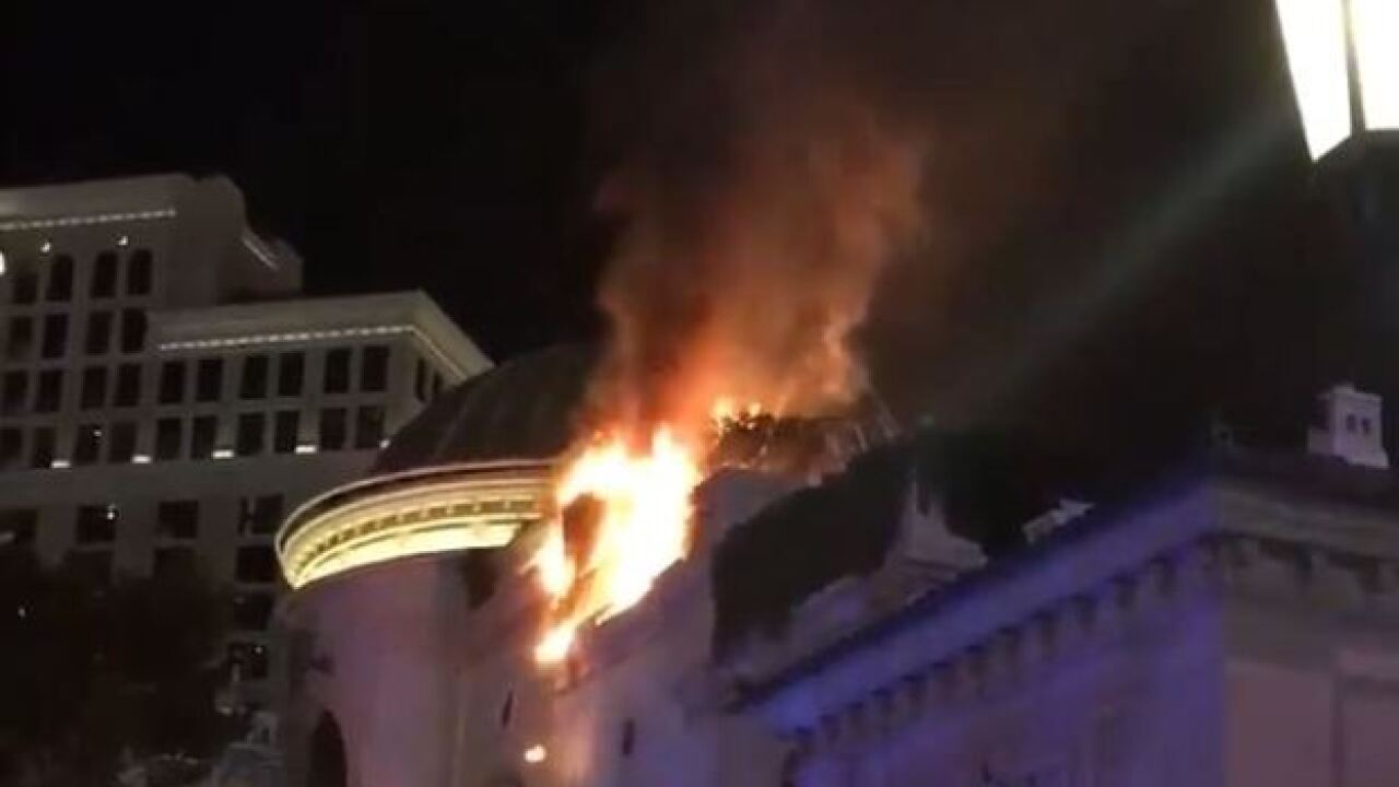 Crews Knock Down Fire On Bellagio Hotel Casino Roof