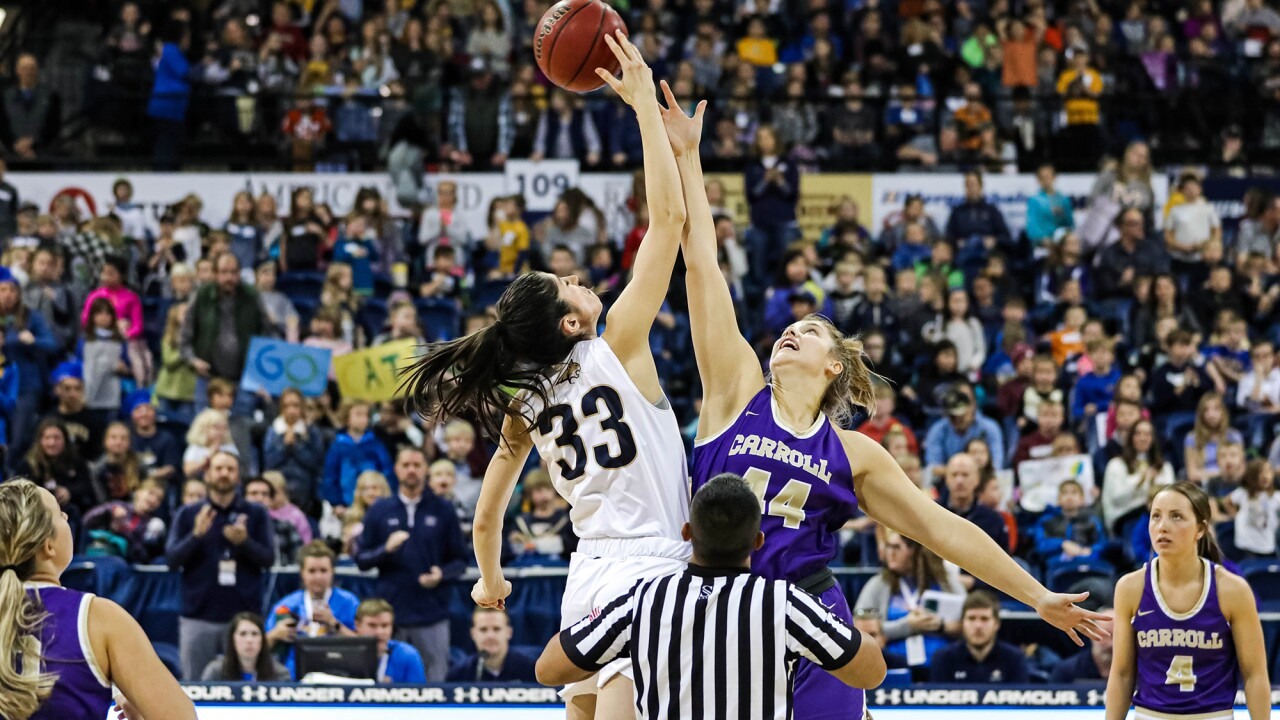 Montana State-Carroll College tipoff