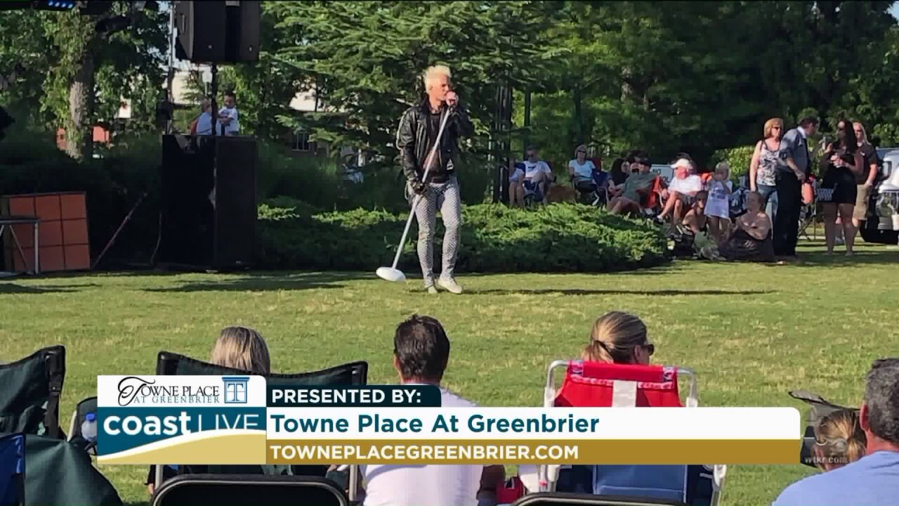 Preparing for the free Summer Concert Series at Towne Place At Greenbrier on Coast Live