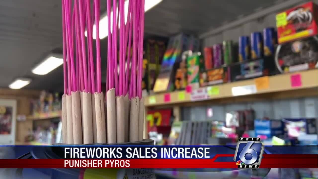 Fireworks sales are increasing across the Coastal Bend