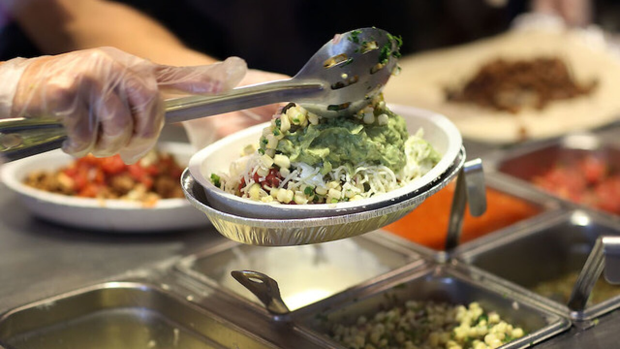Chipotle offering BOGO deal to all U.S. military on Tuesday
