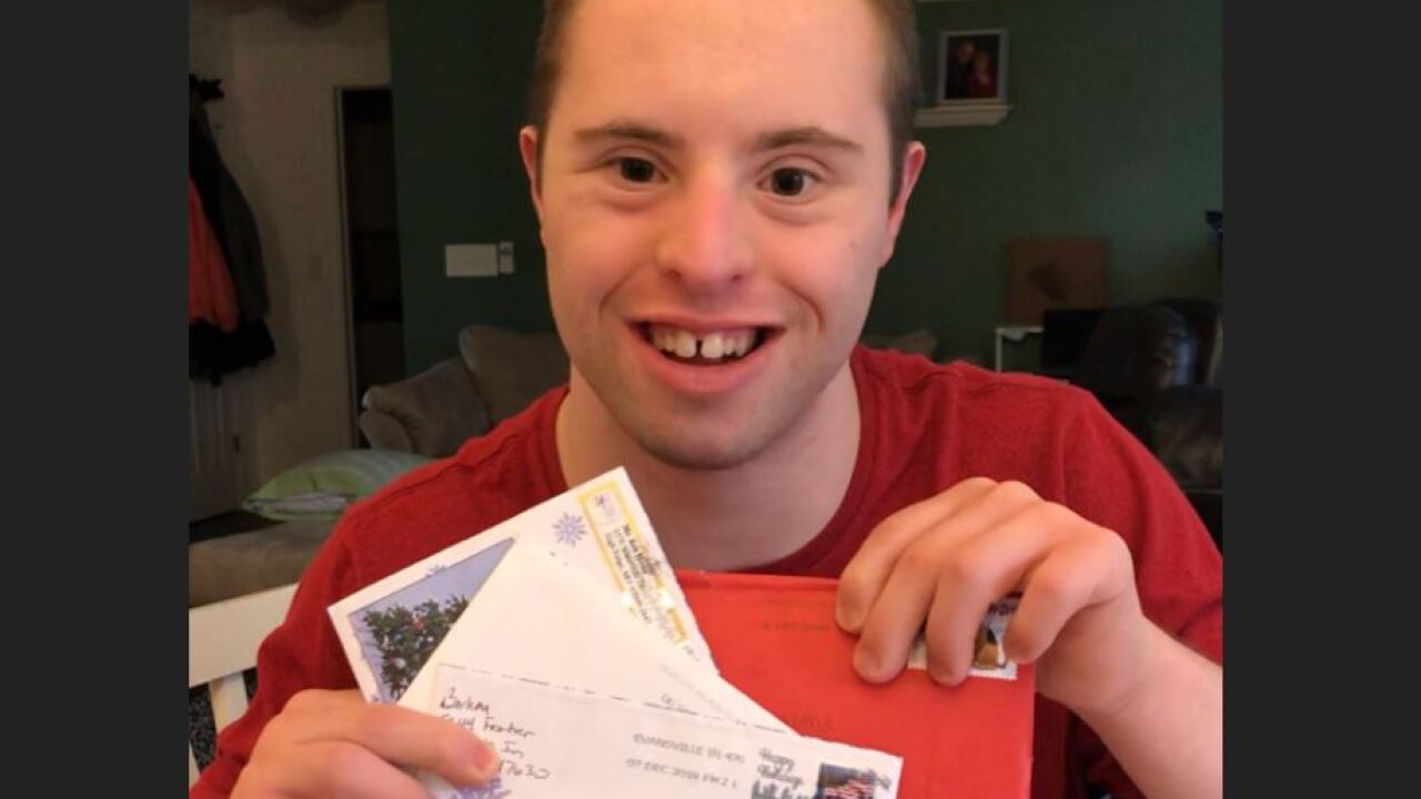 Indiana man with Down syndrome seeks to reignite a holiday tradition — mailing Christmas cards