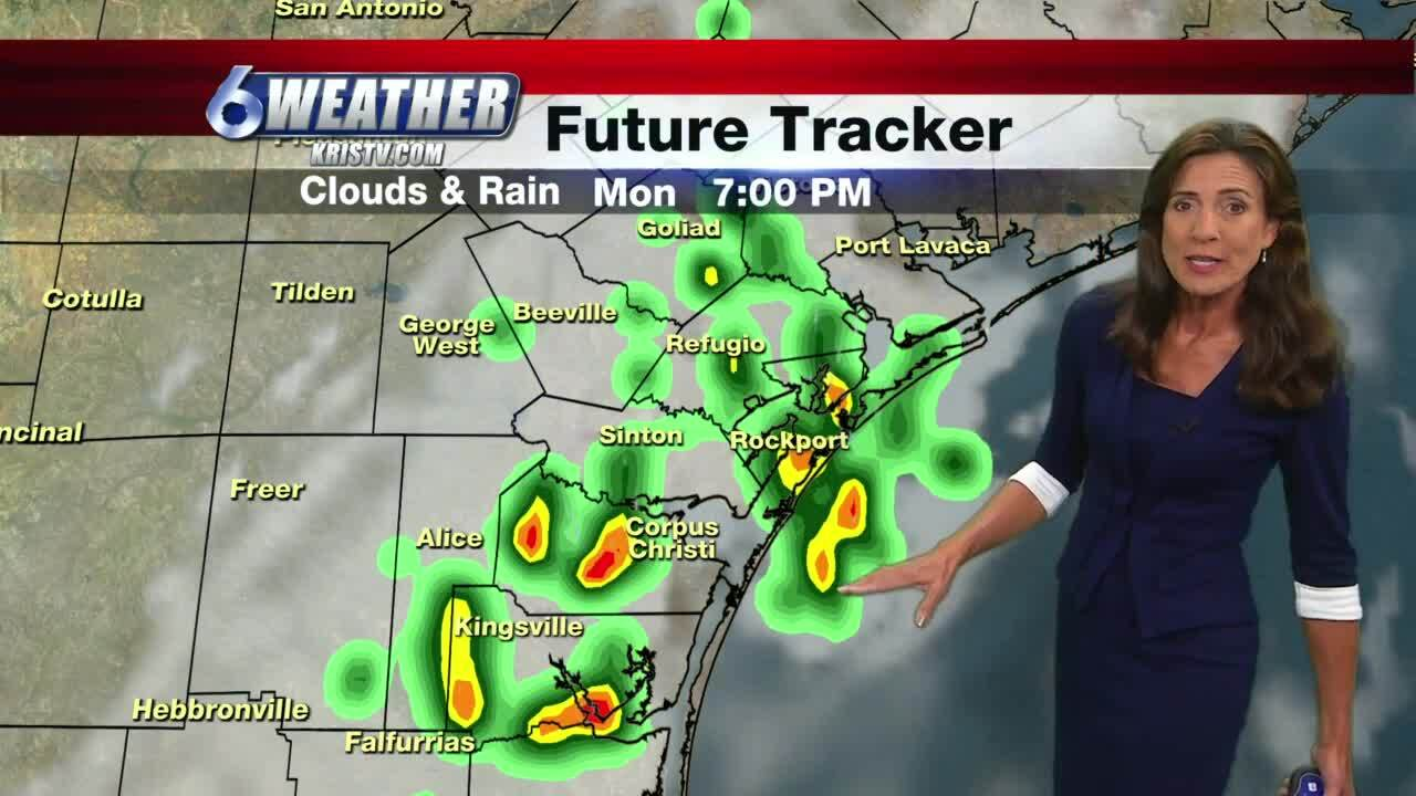 Rain showers expected throughout Coastal Bend this week