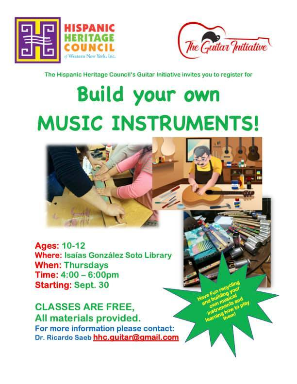 Saeb will teach kids how to build and play their own instruments