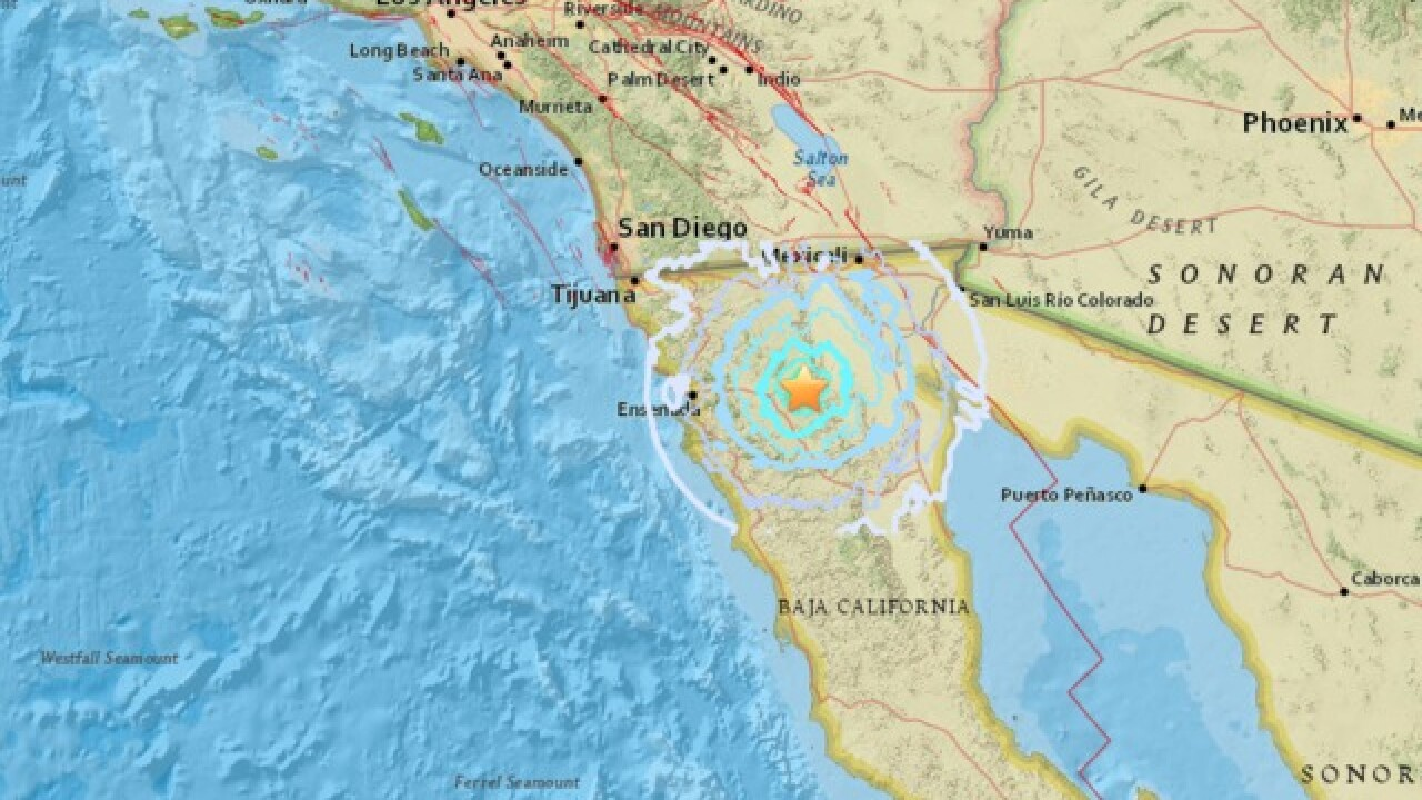 4.0 magnitude earthquake south of the border felt in San Diego