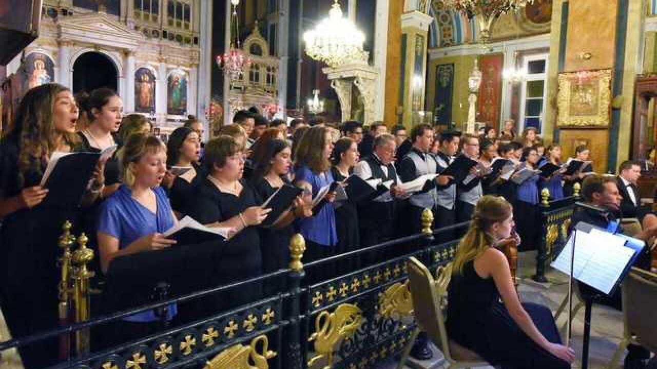 Tucson choir director and students perform at Greek music festival