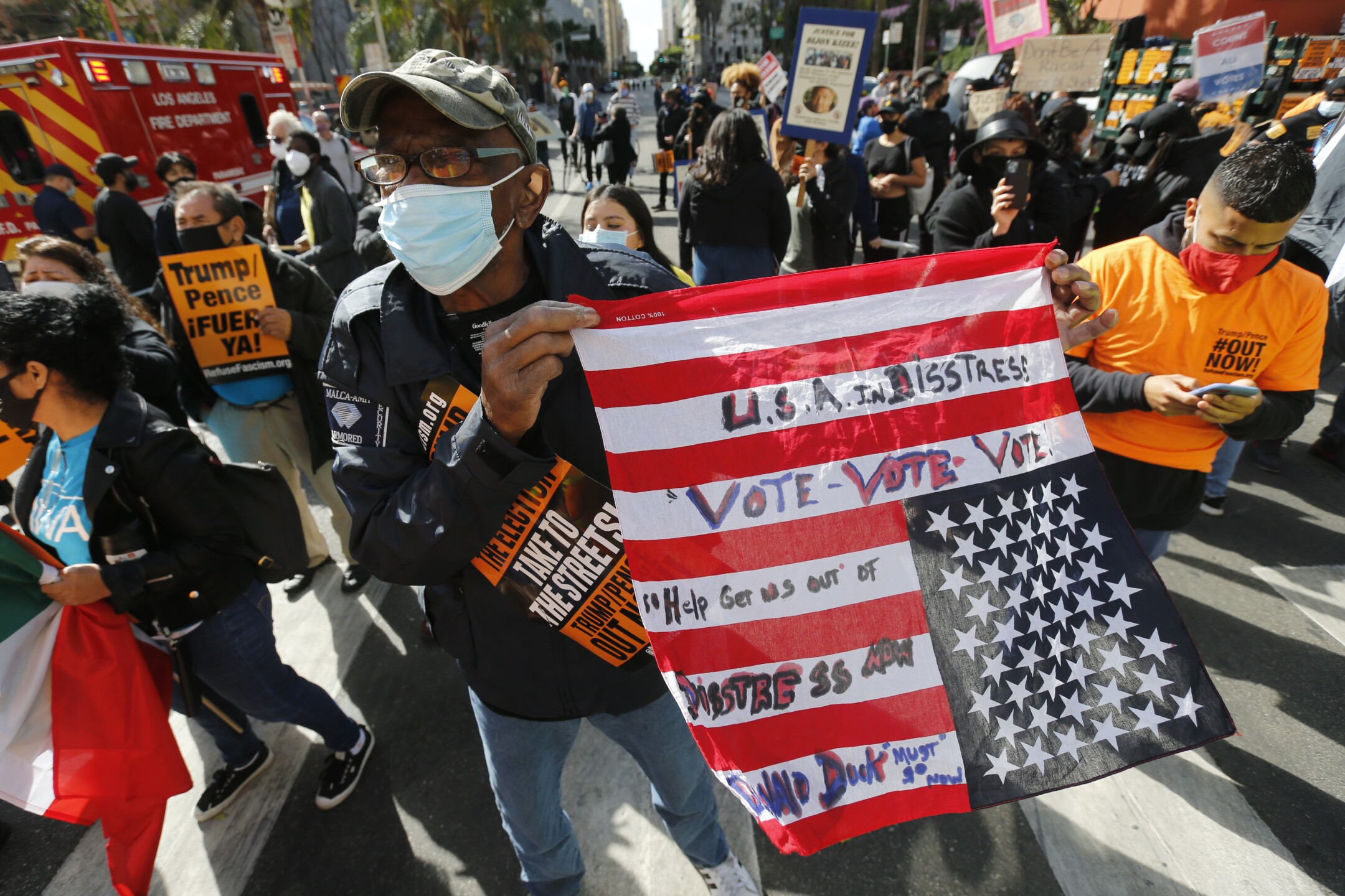 Election 2020 Protests Los Angeles
