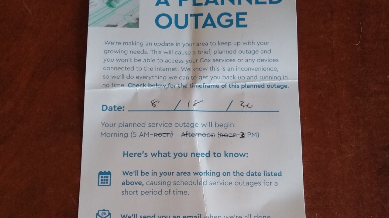 Cox outage