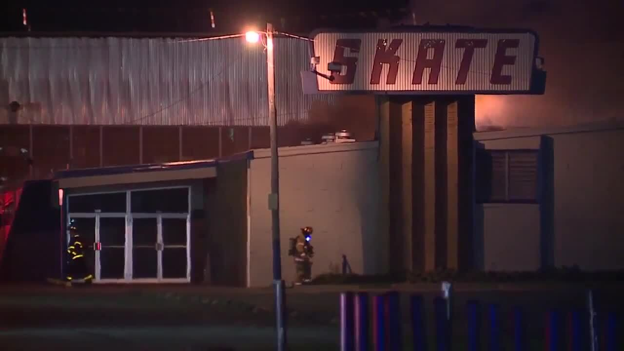 Fire at Skateland in Brook Park