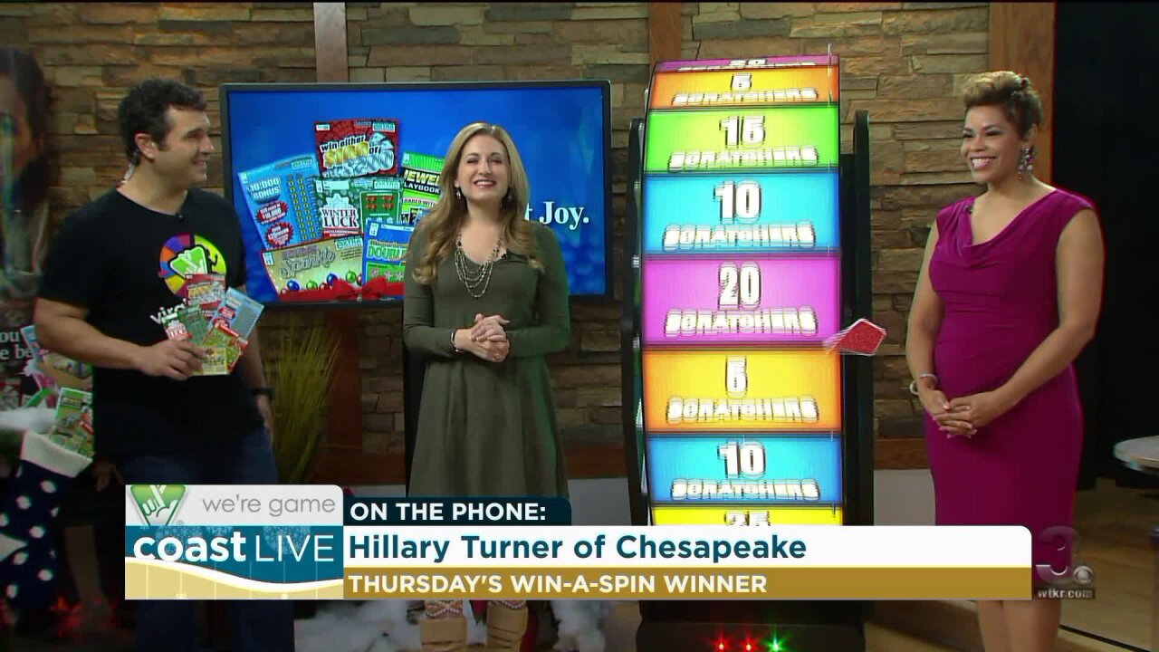 Another viewer wins with Virginia Lottery on CoastLive