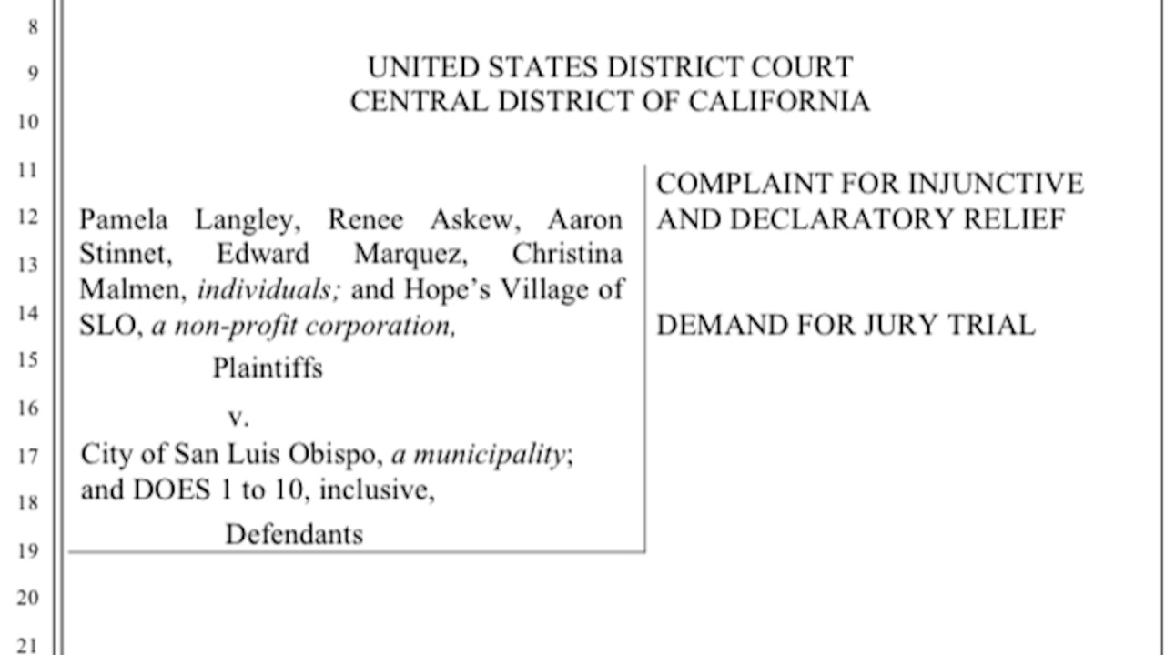 Lawsuit filed against the City of San Luis Obispo