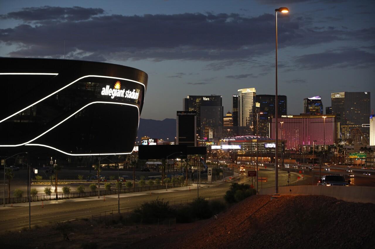 Allegiant Stadium in Las Vegas, July 2020