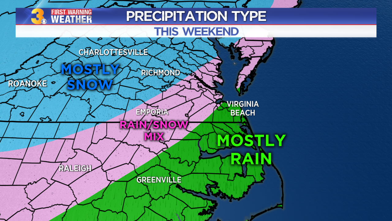 Mid-Atlantic snow this weekend. Could Hampton Roads be included?