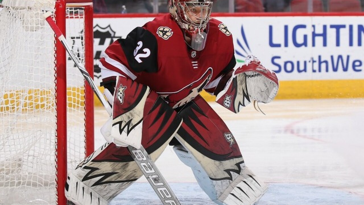 Coyotes goalie Antti Raanta 'shaken up but OK' after car accident