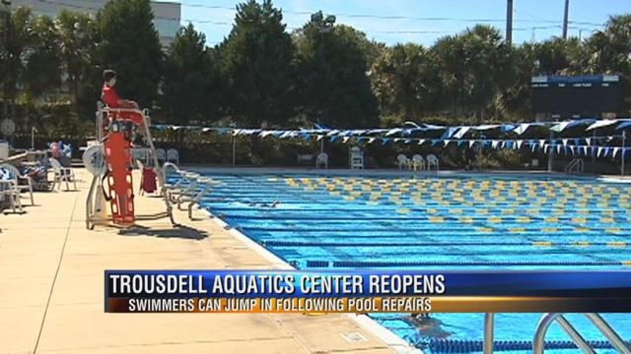 Trousdell Aquatics Reopens Main Pool