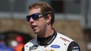 Brad_Keselowski_Monster Energy NASCAR Cup Series Consumers Energy 400 - Practice