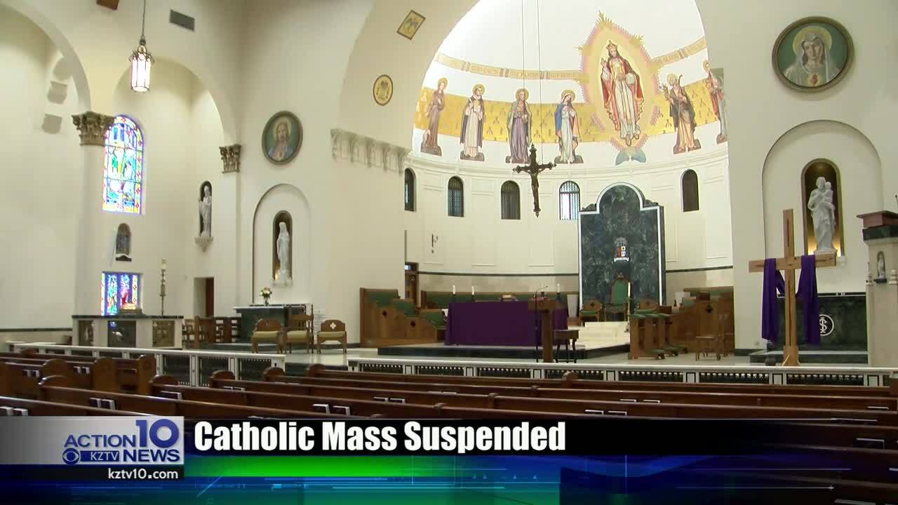 Local Catholic masses suspended for at least two weeks
