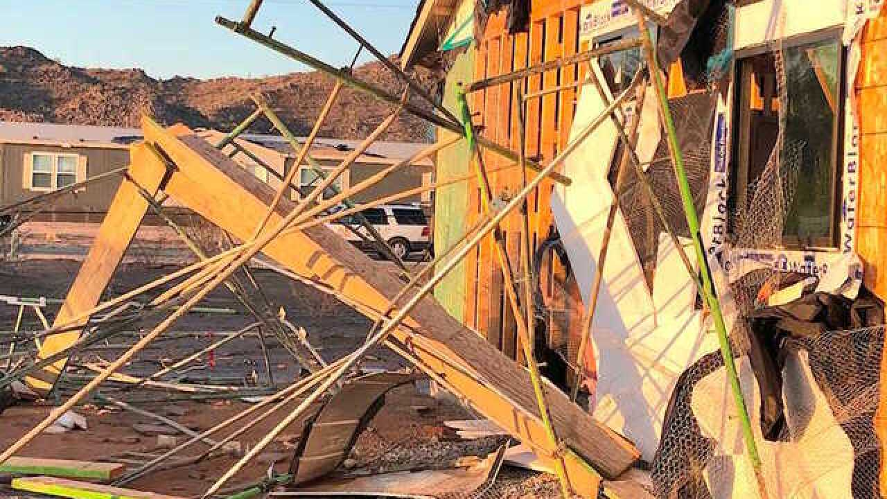 Homes sustain heavy damage in Rainbow Valley