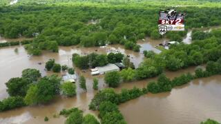 Drone flooding storms