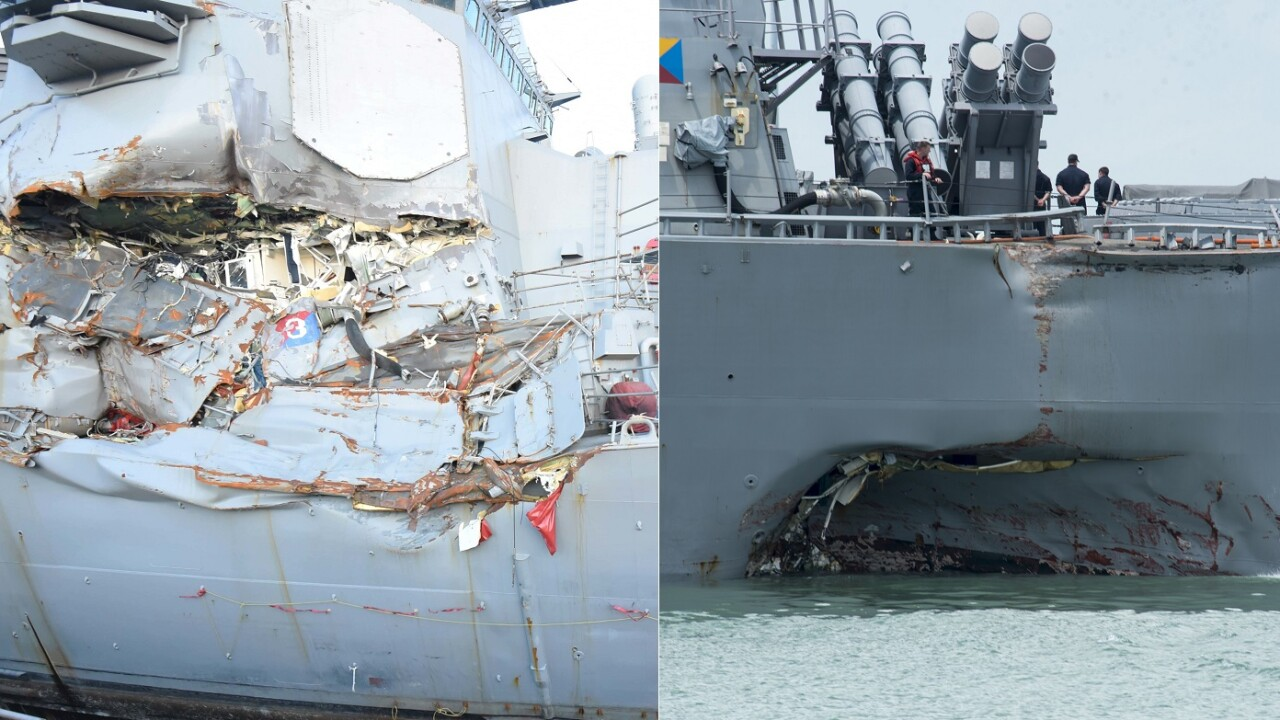 Navy ships in deadly collisions had lengthy training lapses