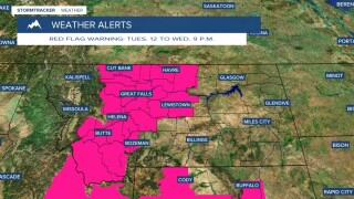 Red Flag Warning begins Tuesday