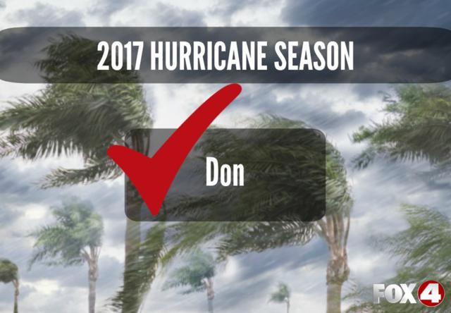 LIST   Storm Names for the 2017 Hurricane Season