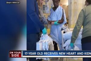 Mother's Christmas miracle: 17-year-old son, Marquis Davis, gets new heart, kidney