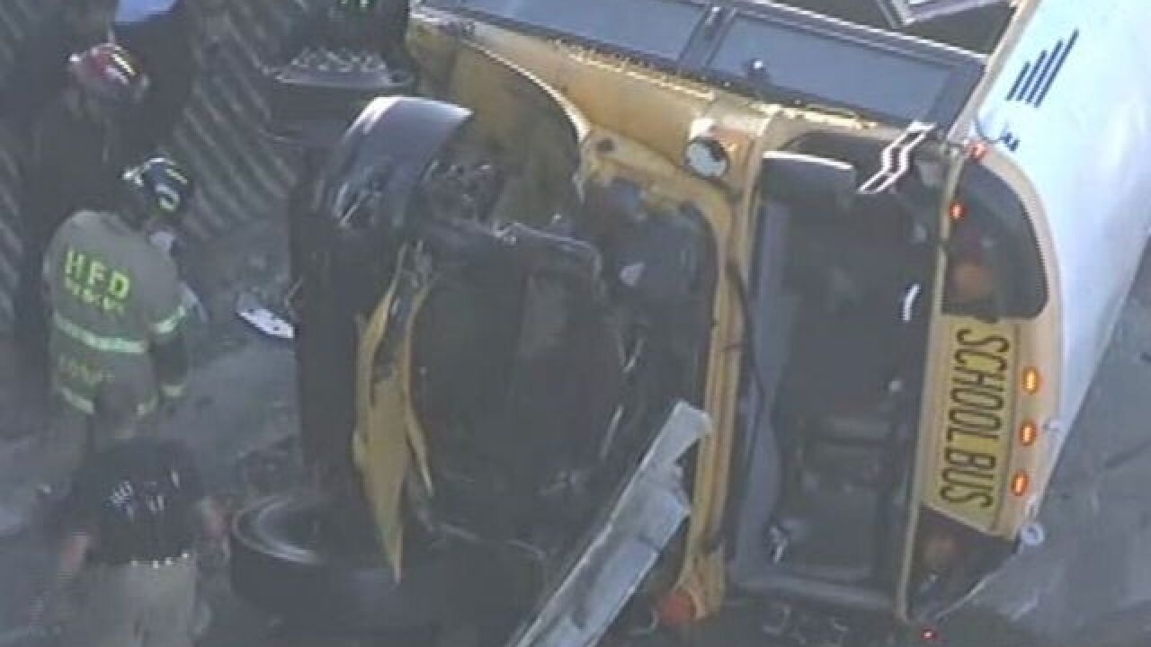 School bus crash kills 2 students, injures 3