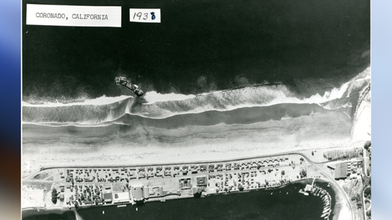 El Nio storms, low tides reveal sunken ship
