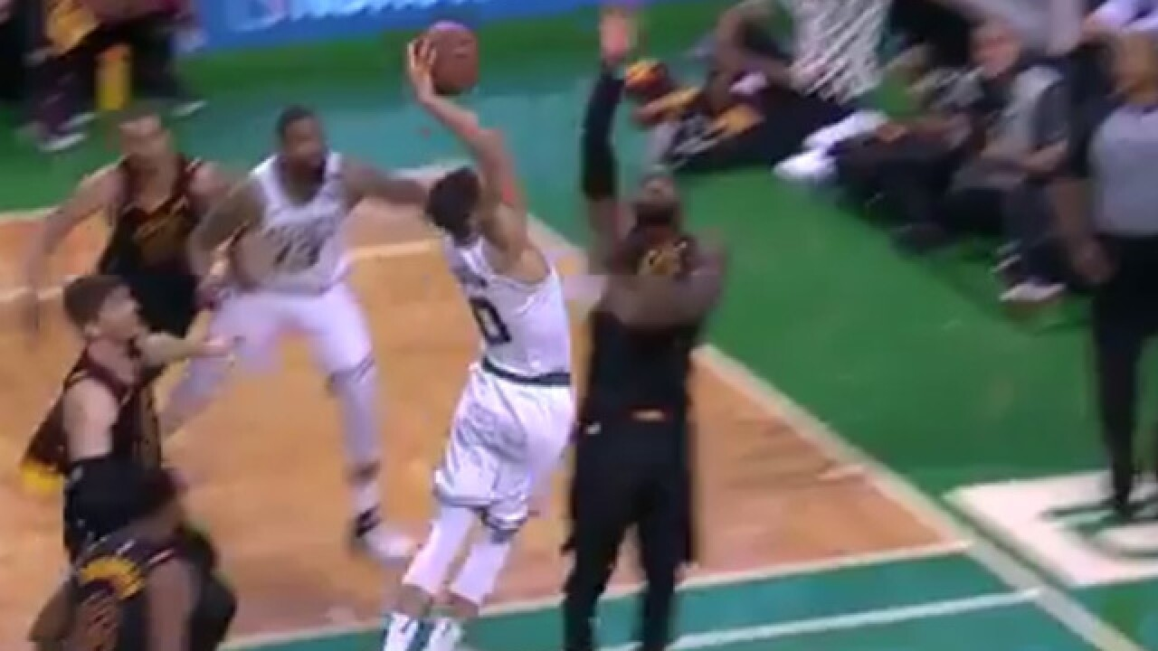 So, LeBron got viciously dunked on by a rookie...