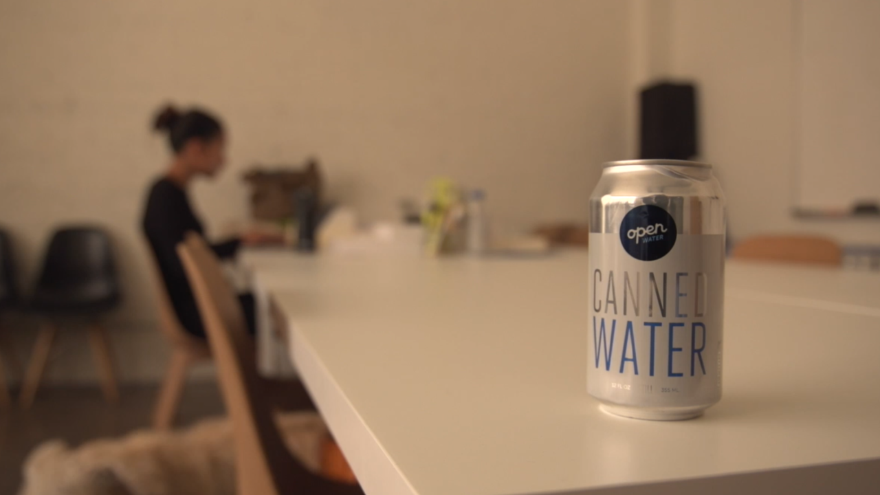 Company Open Water leads way with aluminum packaged water