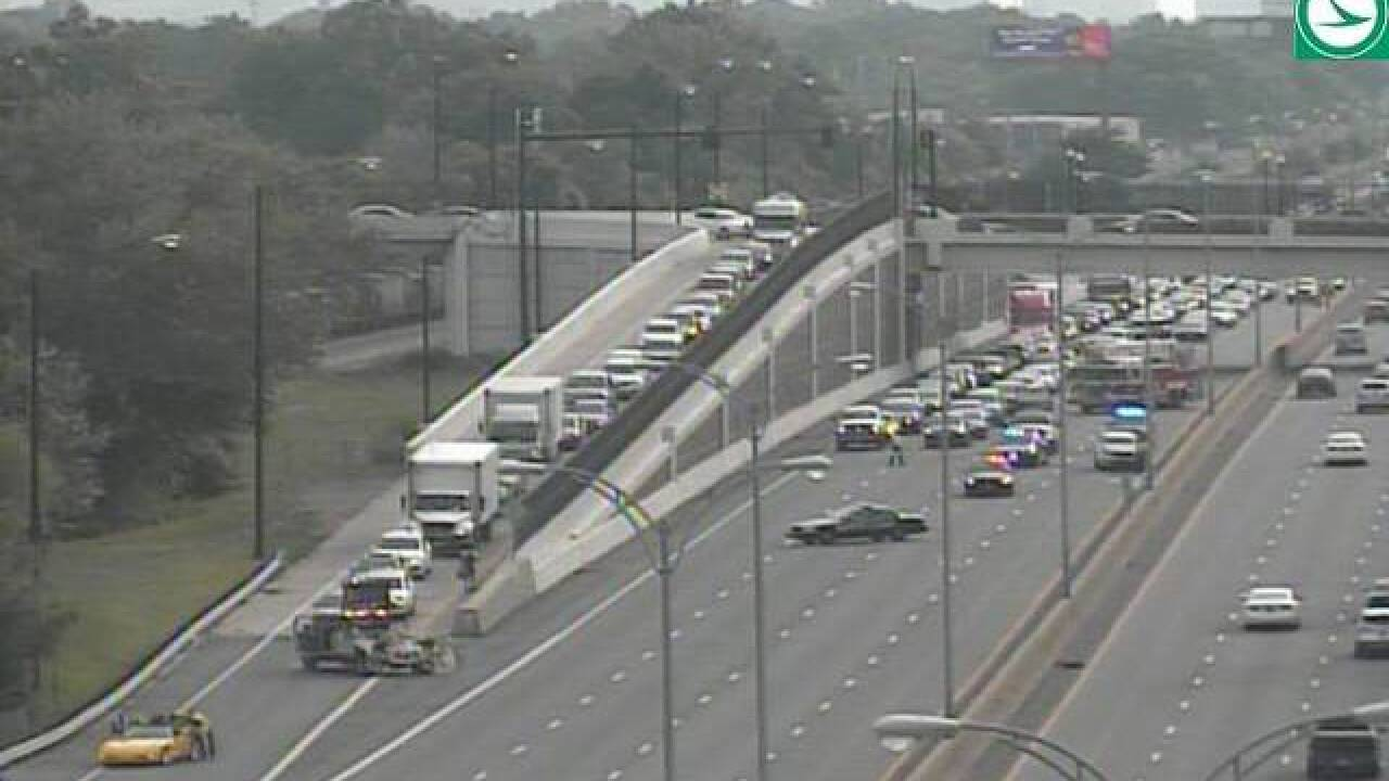 Accident blocks eastbound lanes of I-90 near Eddy Road in Cleveland