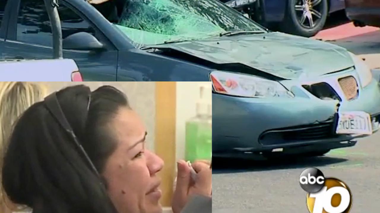 Motorist who hit man, drove with body, sentenced