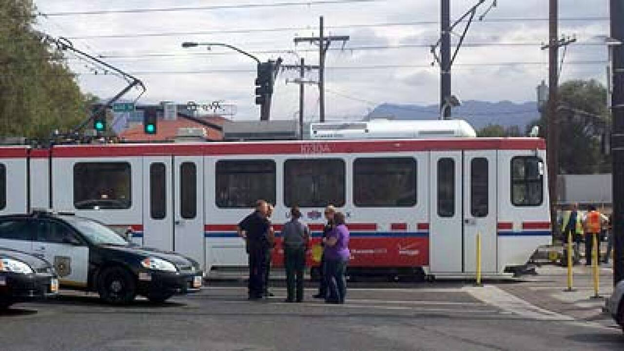 Man hit by TRAX train, not seriously injured