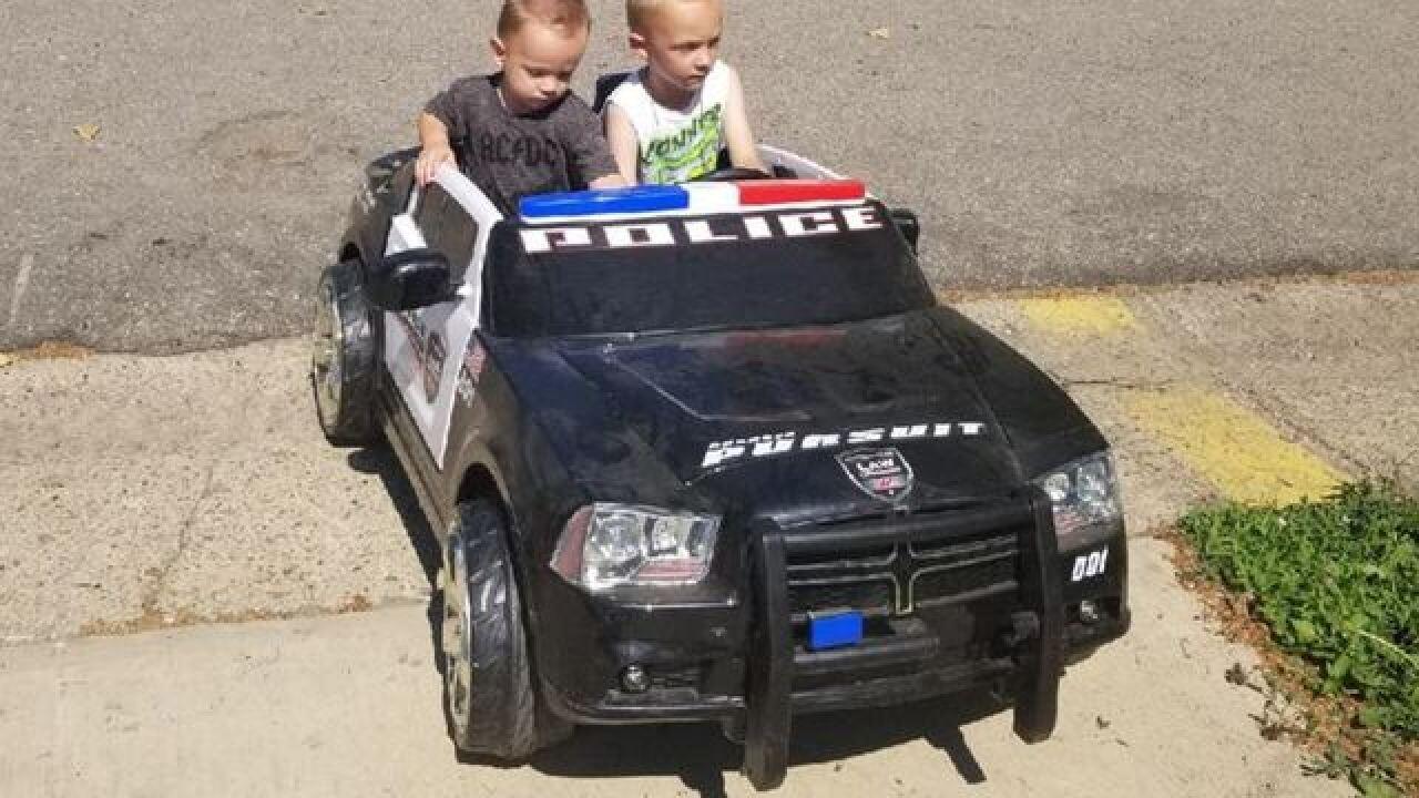 5-yr-old aspiring officer's toy cruiser stolen