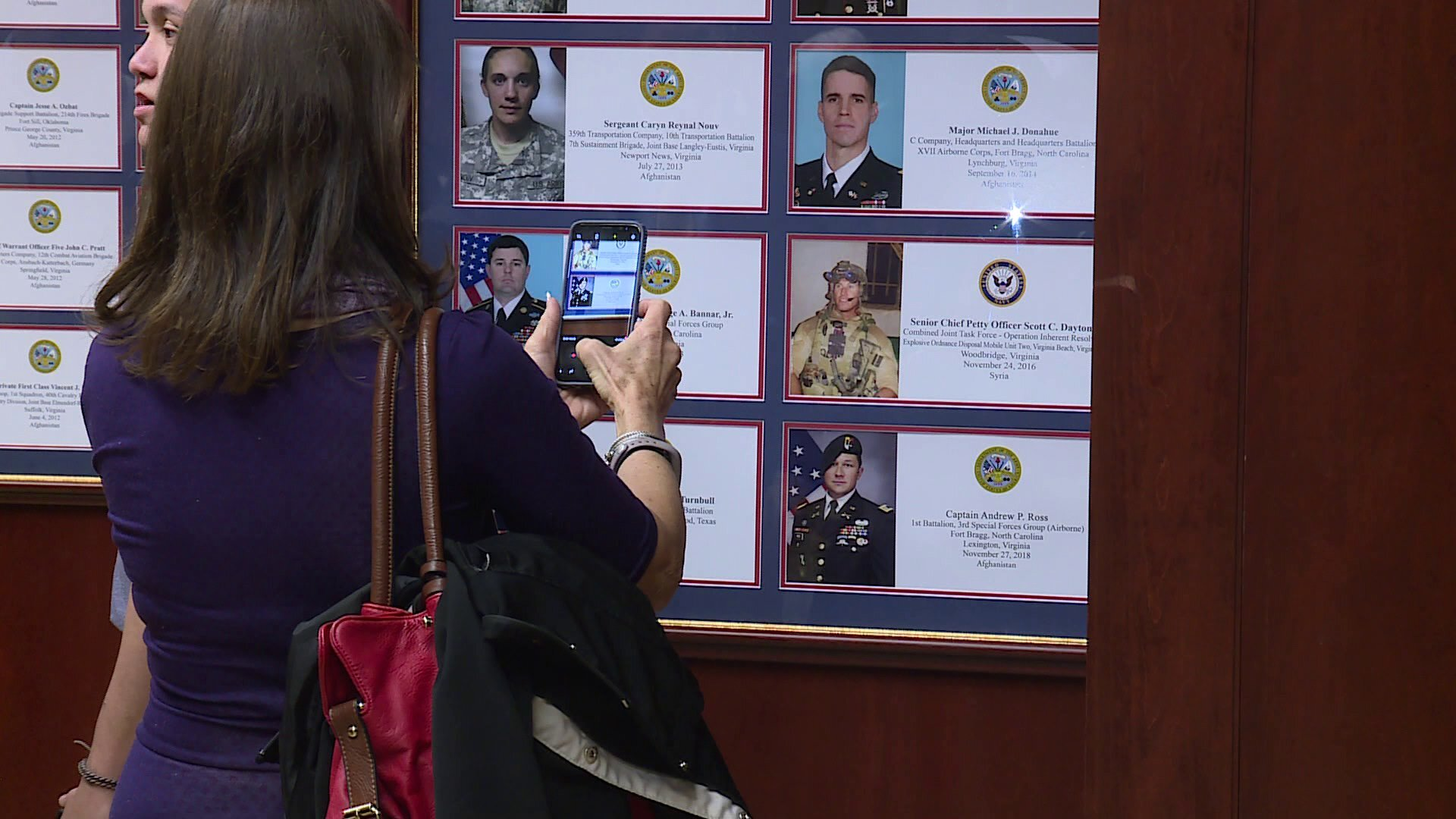 Photos: Virginia Army Captain Andrew Ross added to Virginia War Memorial's Wall of Honor