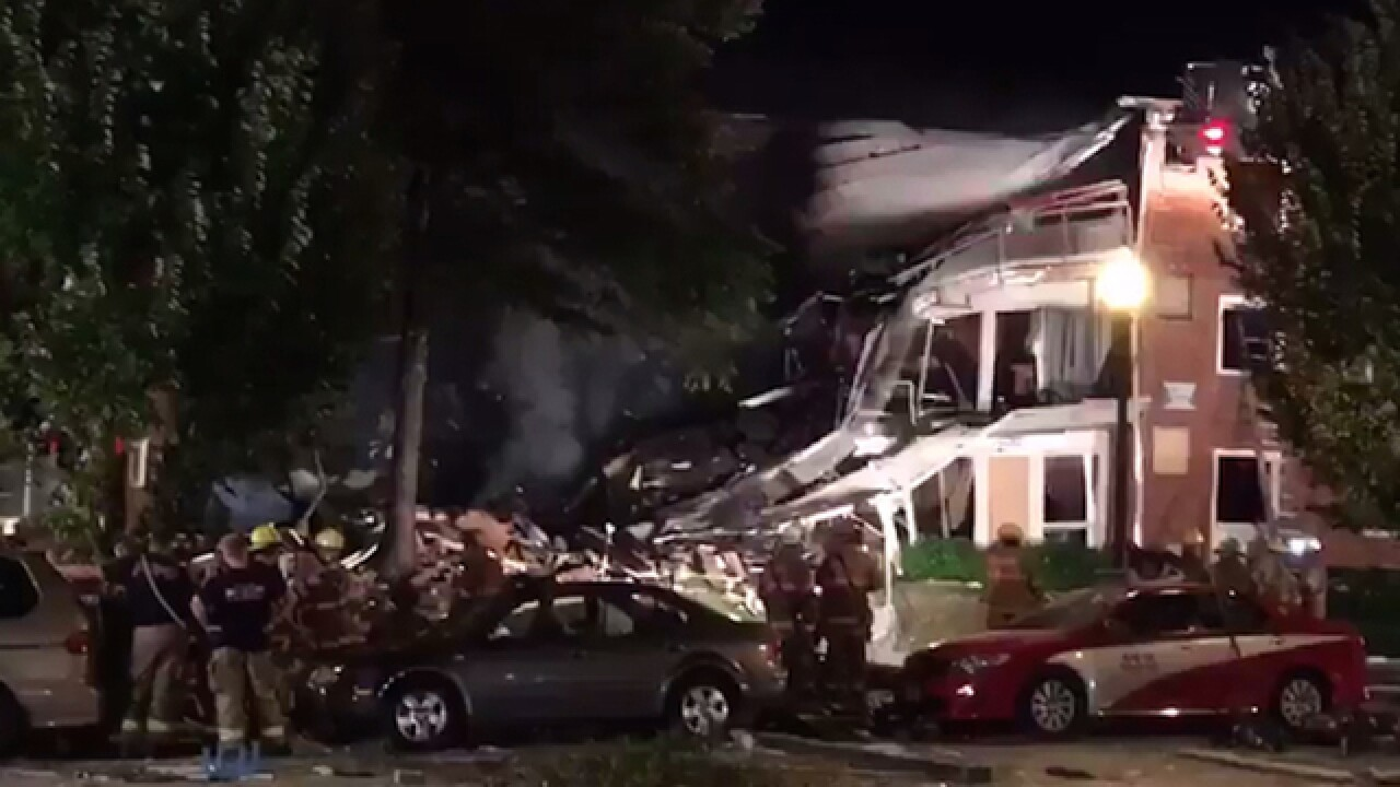 Dozens hurt in Maryland apartment fire