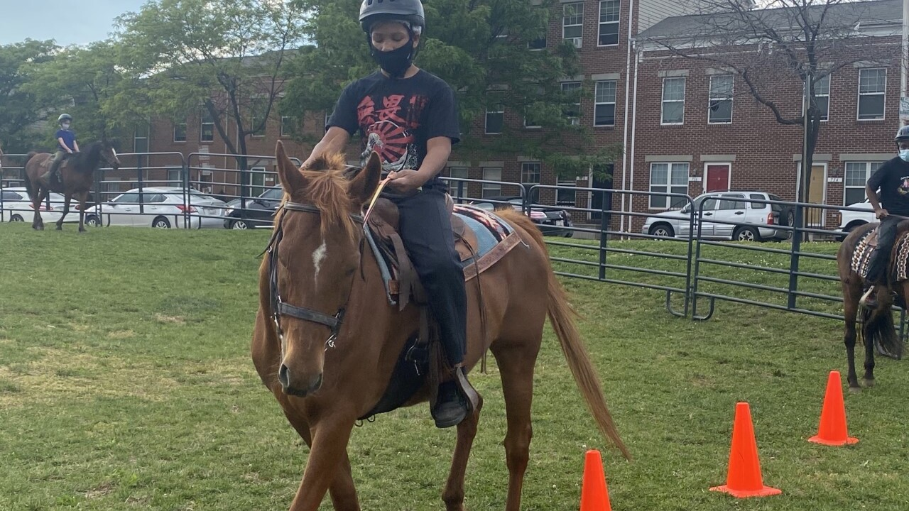 Saddling up in the middle of Baltimore