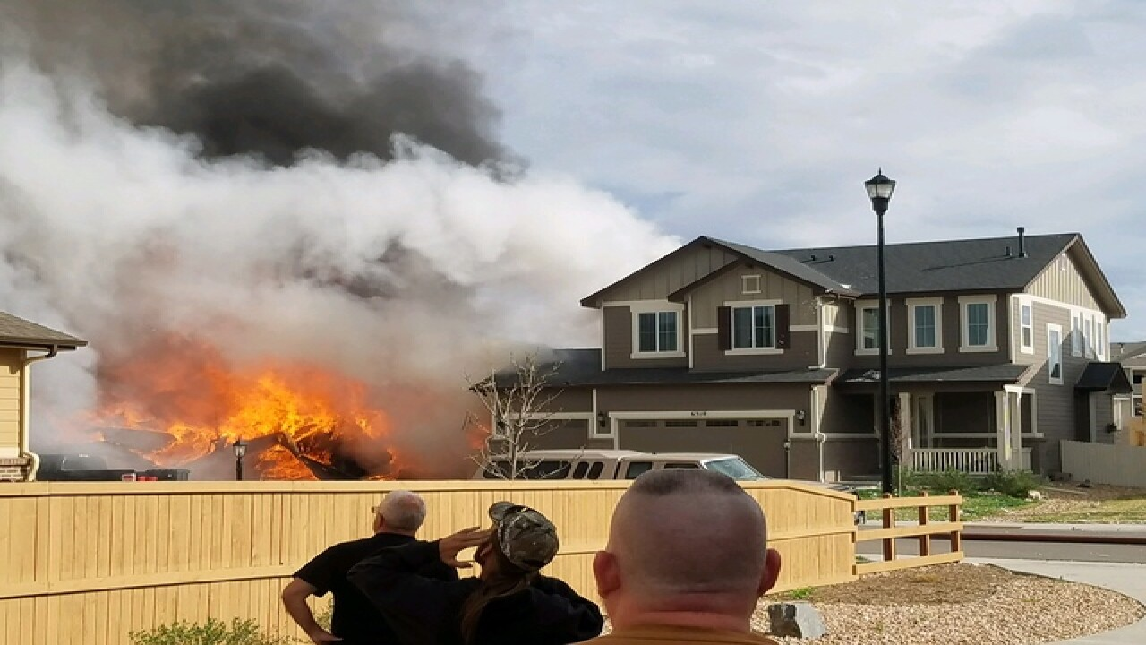 Fire destroys home in Firestone