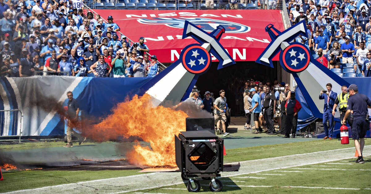 Fire Marshal's Office files complaint in Titans pyro mishap