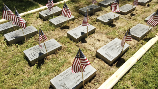 Headstone dedication Memorial Day