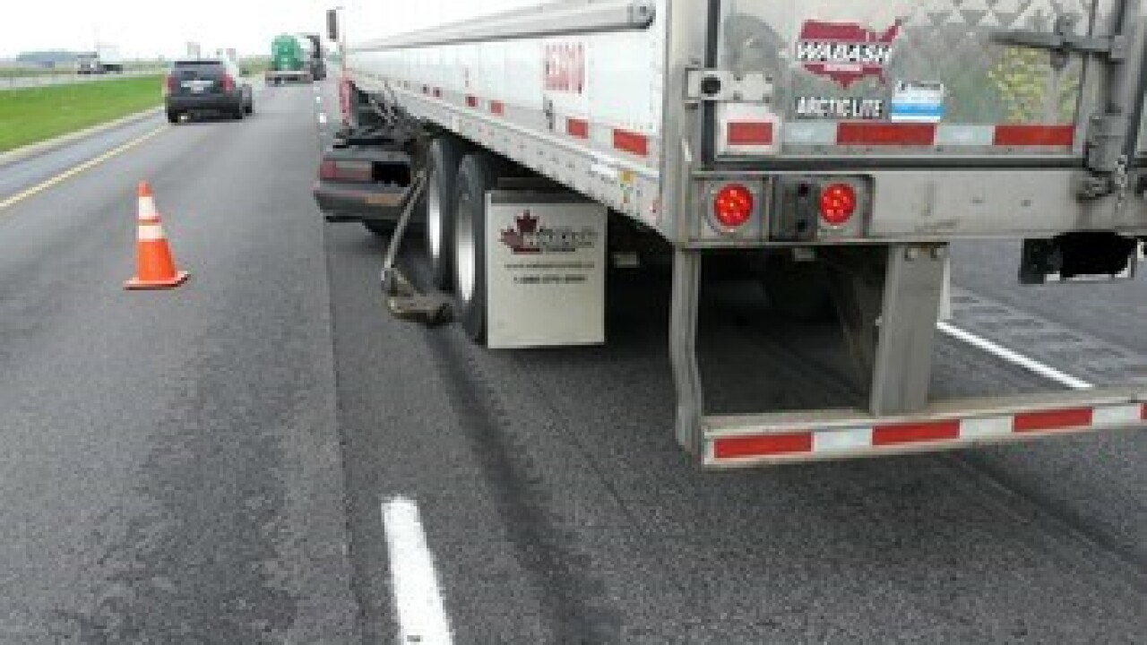 Man Drives Under Moving Semi-truck On Interstate-69 In