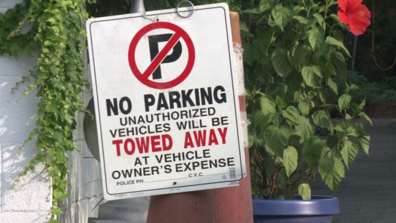 "Illegal ""no parking"" signs make it harder for beach-goers to find public parking"