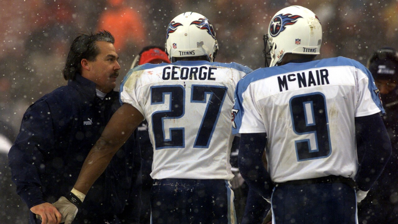 low priced 9f590 19020 Tennessee Titans to retire numbers of Eddie George, Steve McNair