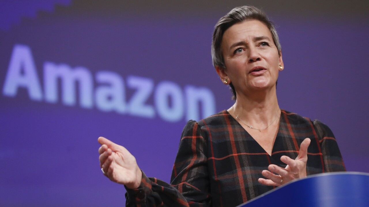 European Union files antitrust charges against Amazon over use of data