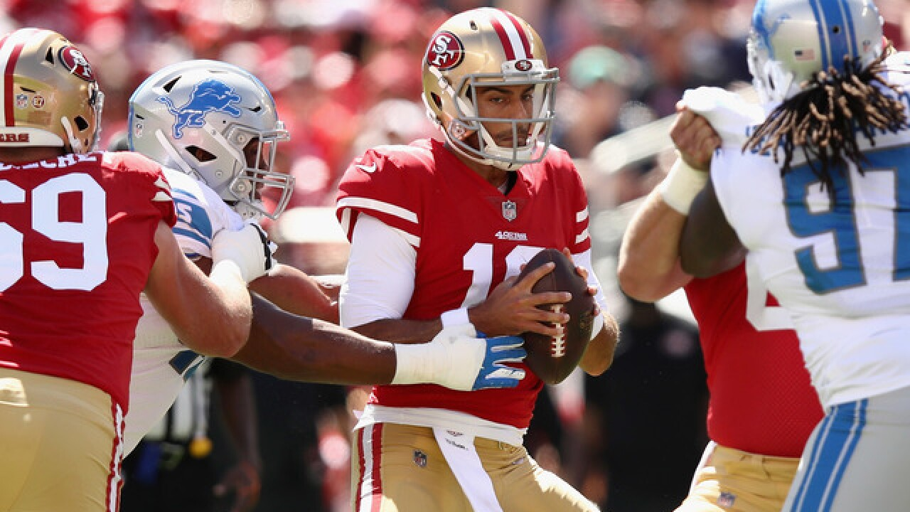 Jimmy Garoppolo, Matt Breida help 49ers hold off Lions
