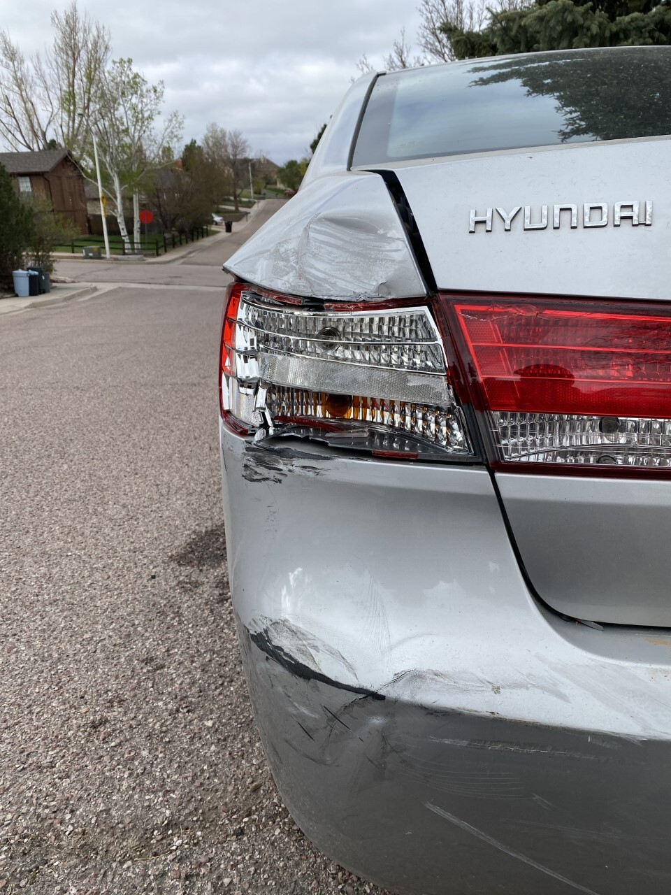 Damage to first vehicle
