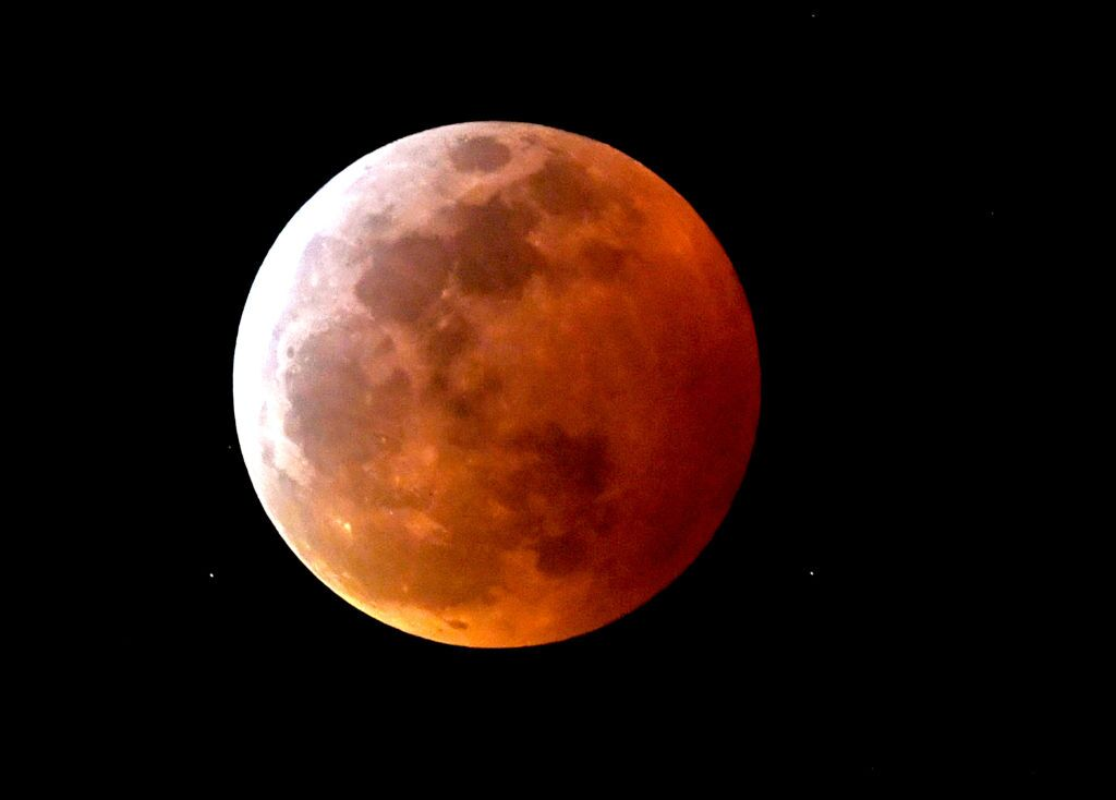 Miss the Super Blood Wolf Moon? Here's some photos of the celestial event