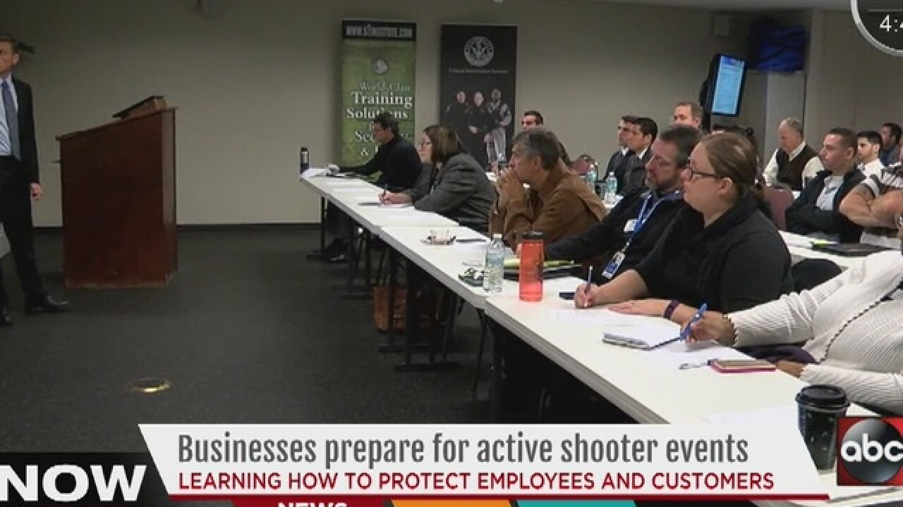 Businesses prepare for active shooter events