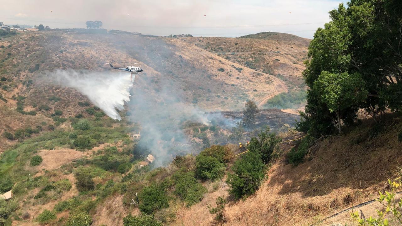 Rancho Santa Fe brush fire